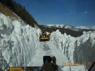 2014 plowing Turquoise Lake
