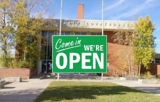 Courthouse open